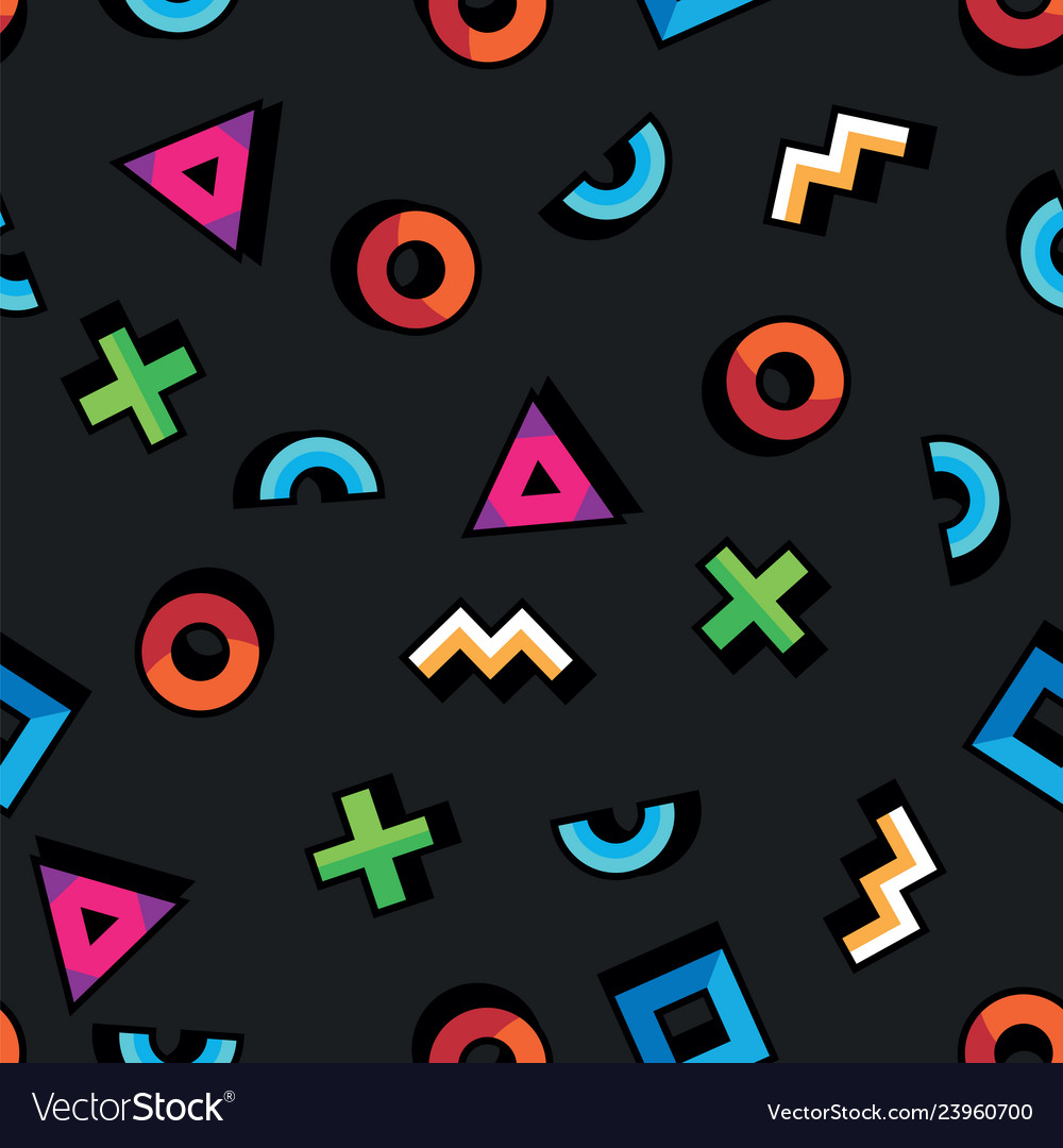 Geometric pattern in abstract style seamless