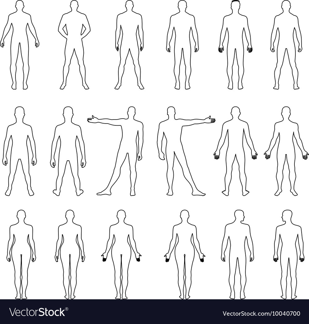 Human outlined silhouette