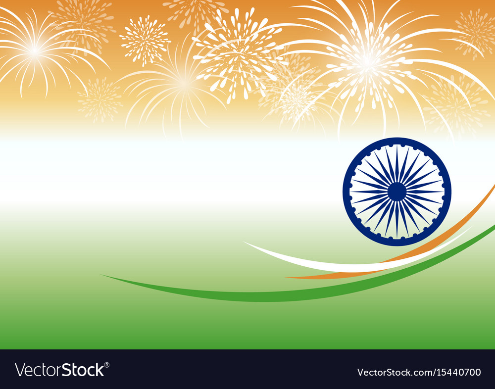 India Background: India Independence Day Background Design Vector Image
