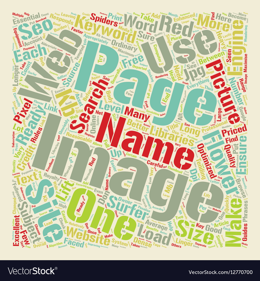 SEO For Images On Web Sites text background