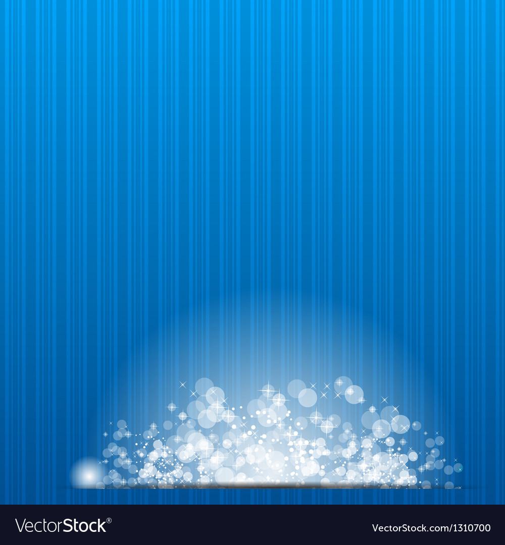 Sun on blue background vector image