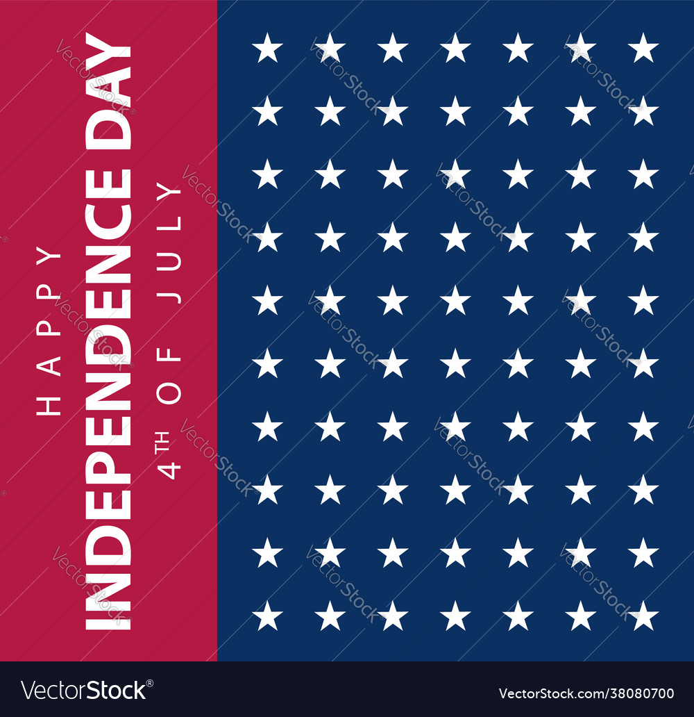Usa flag banner american independence day poster