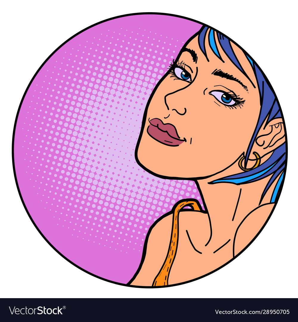 Beautiful woman pop art portrait