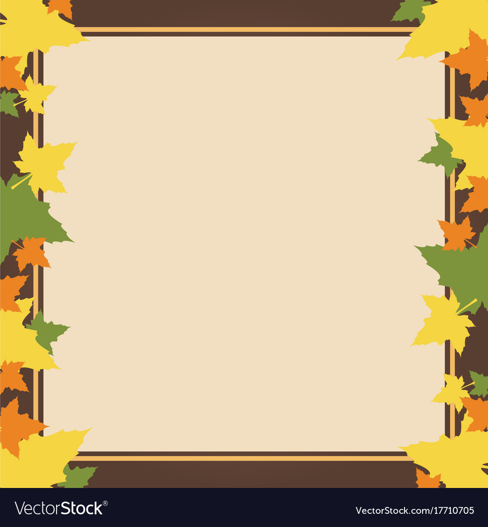 Frame design with thanksgiving theme Royalty Free Vector