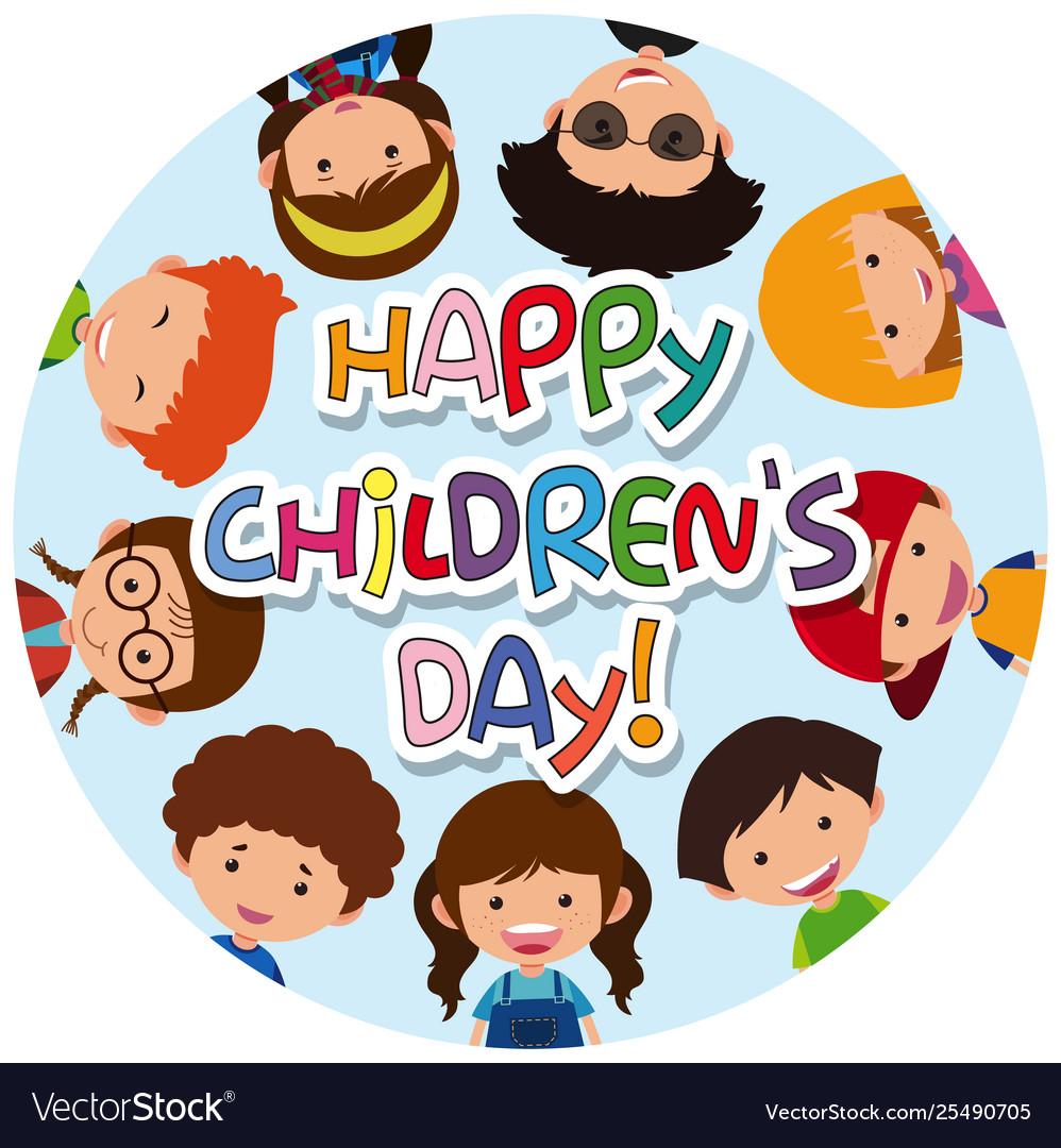 Happy Children Day Vector - Download Free Vectors, Clipart Graphics &  Vector Art