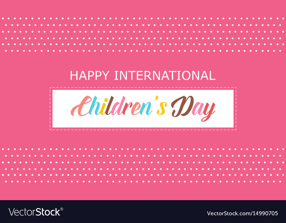 Happy international children day background vector image