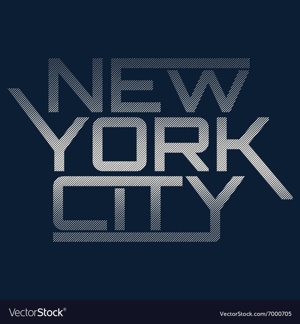 NYC typography t-shirt graphics