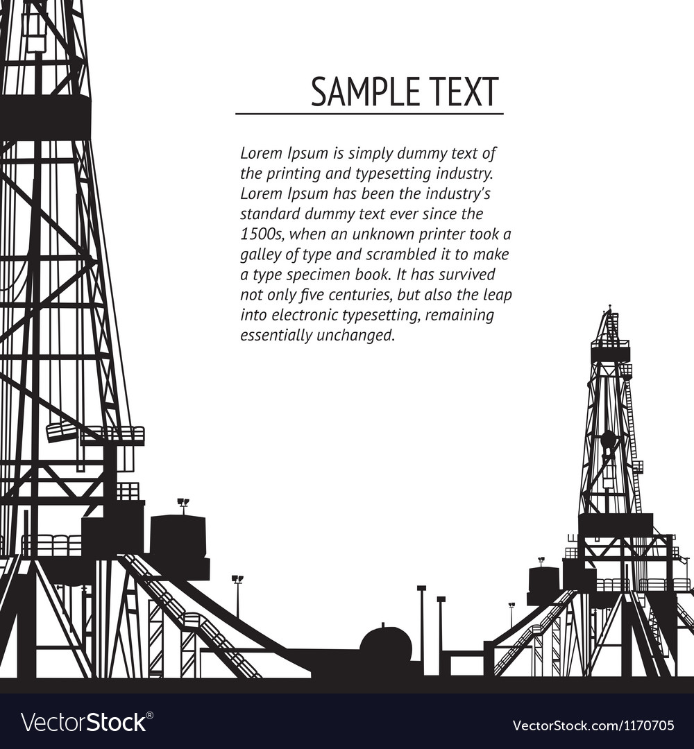 Oil rig banner for your text