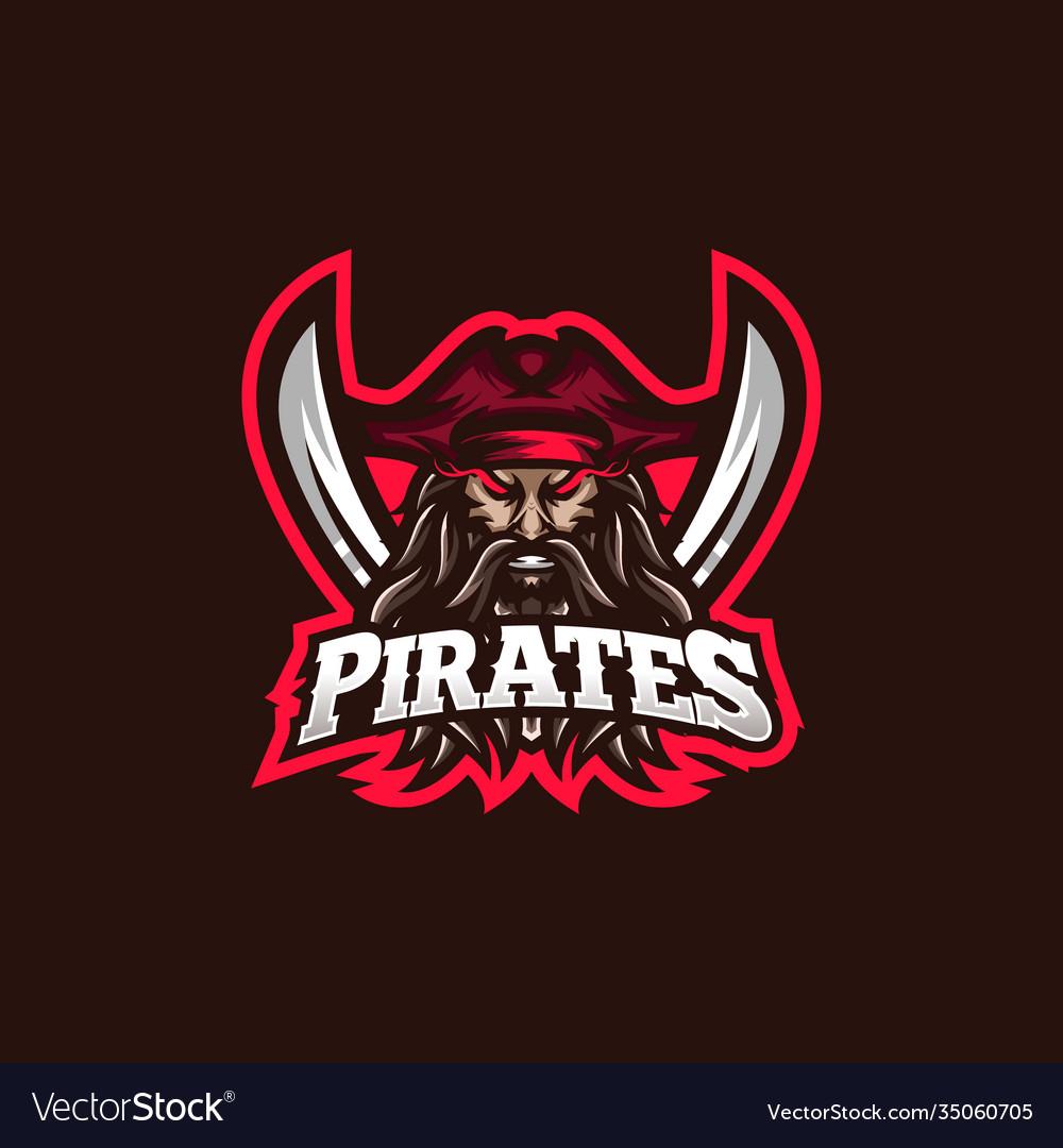 Pirates esport gaming mascot logo template for