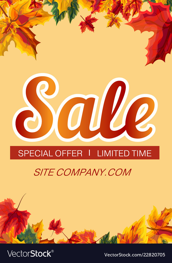 Stylish poster with sale promotion