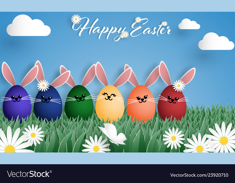 Easter day greeting background