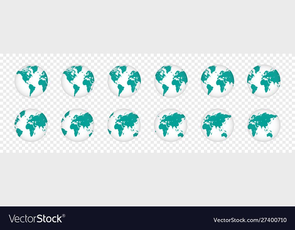 Set realistic 3d planet maps world globe