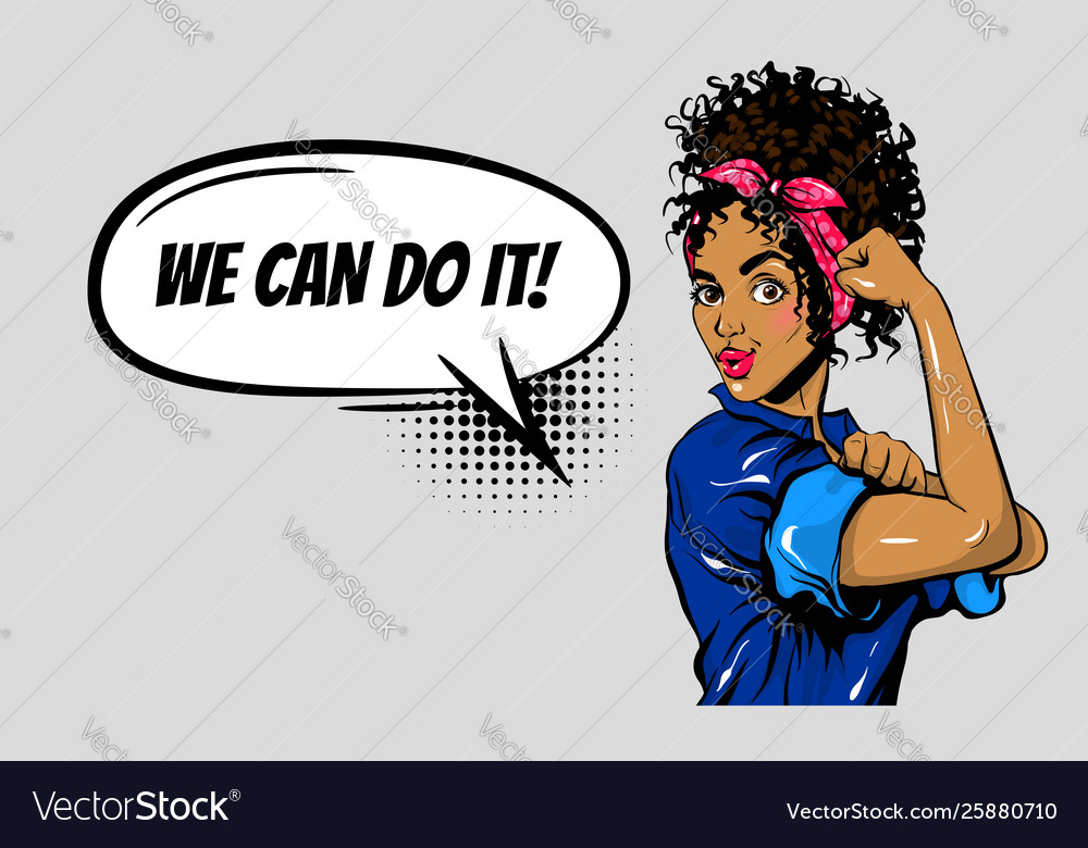 We can do it black woman girl power pop art