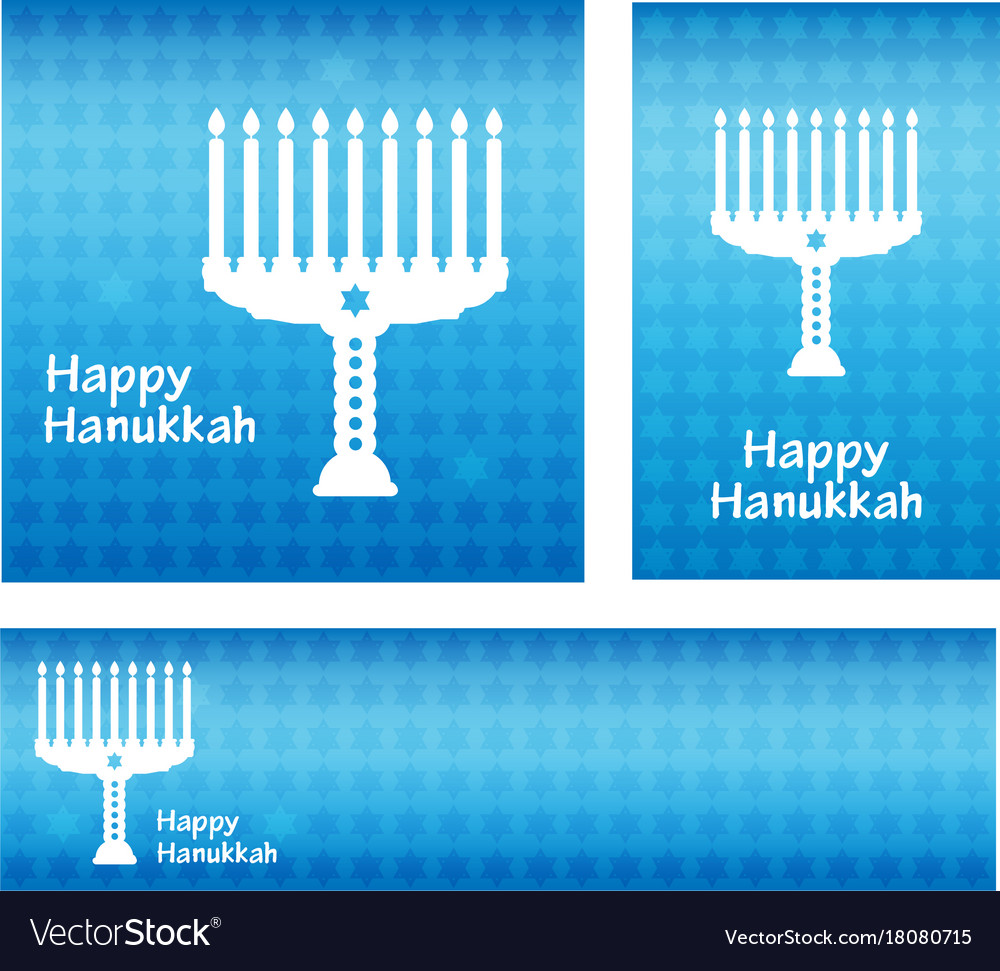 Hanukkah greeting card banners template with vector image m4hsunfo
