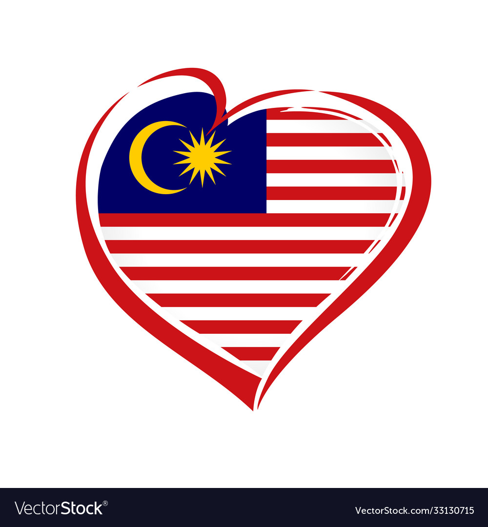 Love malaysia emblem colored