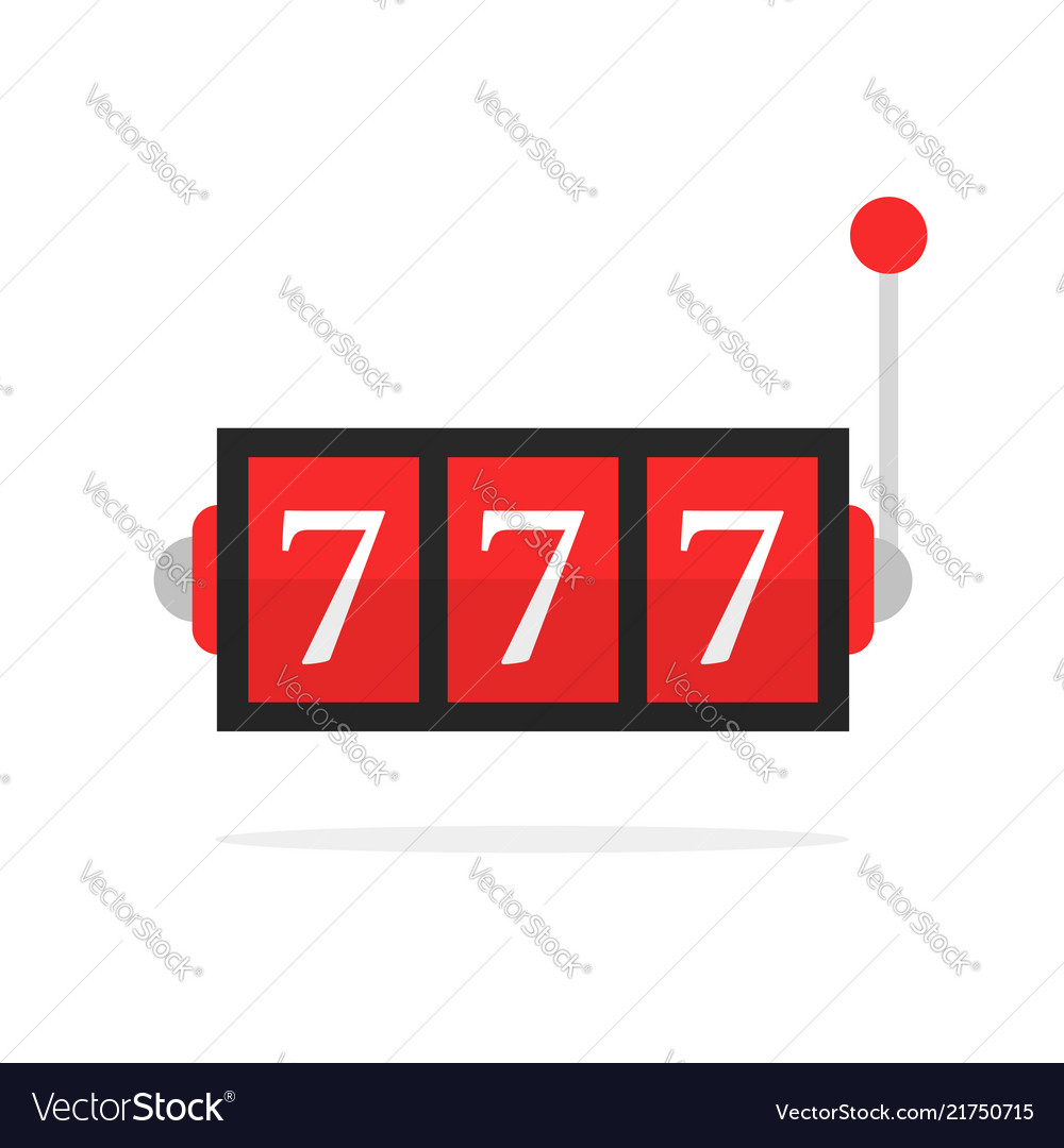 Simple jackpot icon isolated on white