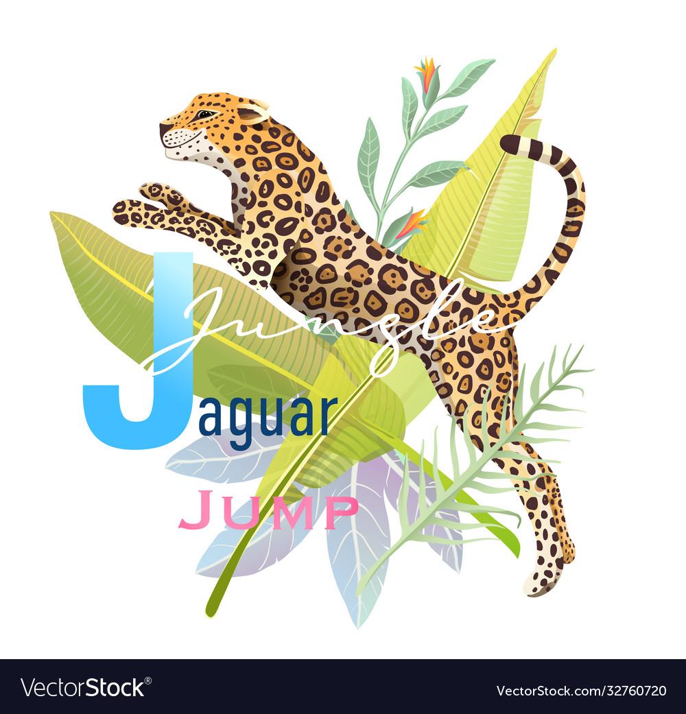 Animal abc letter j is for jaguar jungle jump