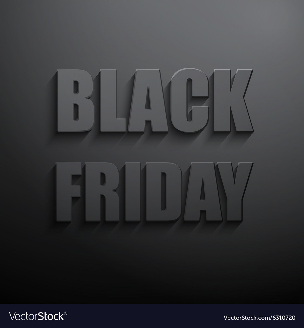 Black friday sales typographic poster