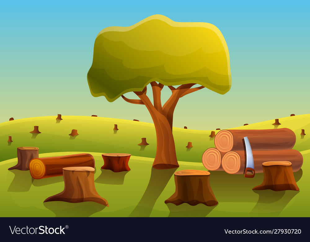 Cartoon Cutting Down Trees Vector Images 59 Lumberjack finds strange tree rings. vectorstock