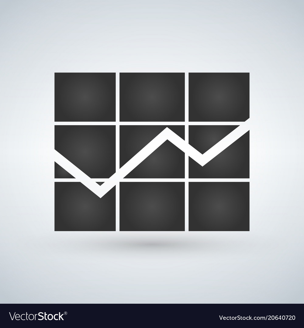 Graph icon in trendy flat style isolated on white vector image