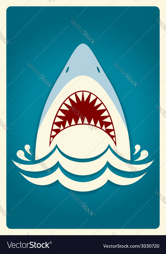 Shark jaws background