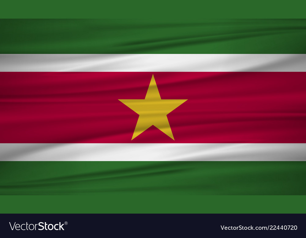Suriname flag flag of suriname blowig in the