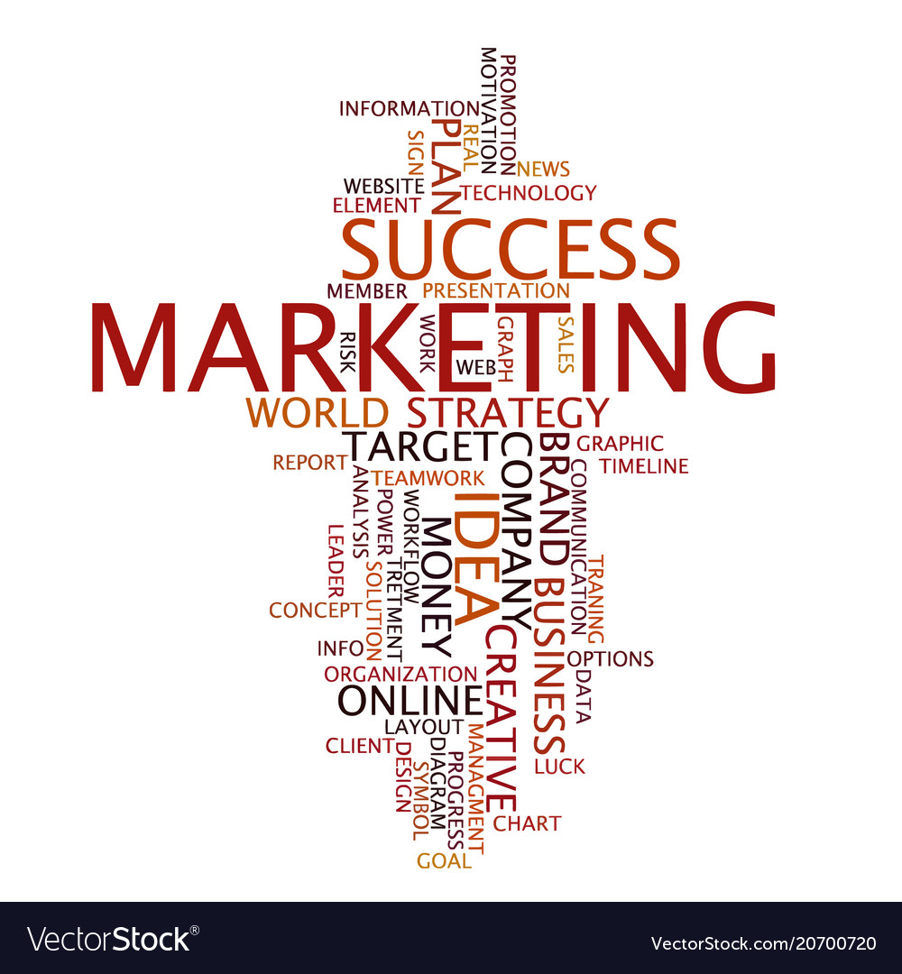 Word cloud business concept marketing