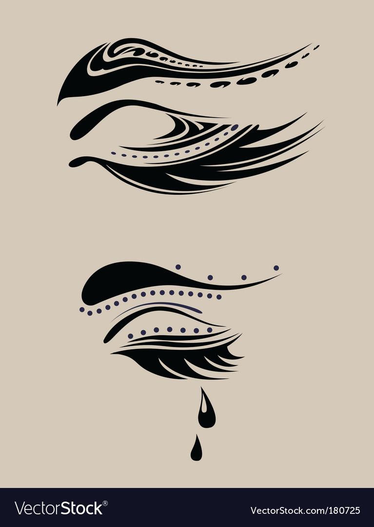 Beauty eyelashes vector image