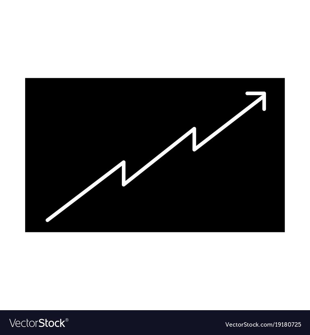 Board presentation graph arrow growth