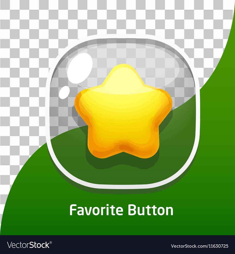 Button Glass Star Favorite