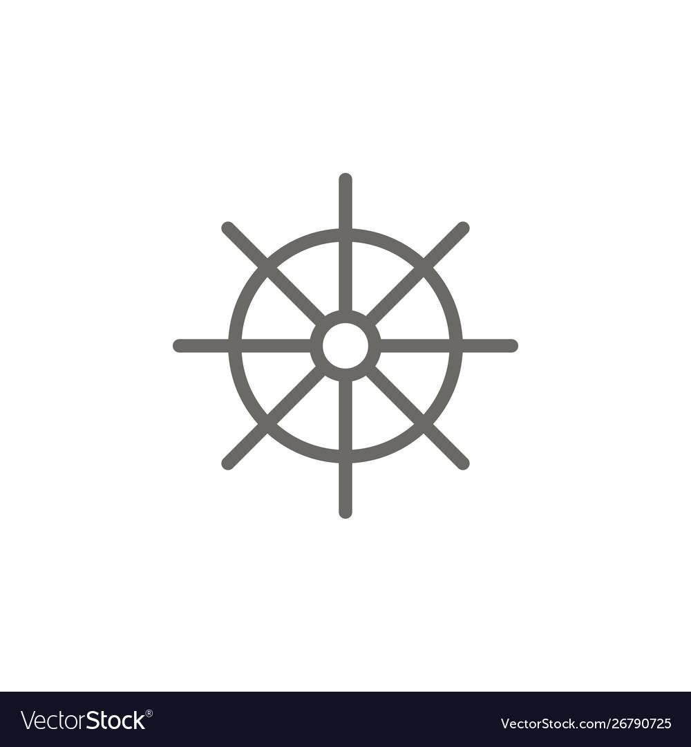 Dharma wheel symbol icon spiritual concept
