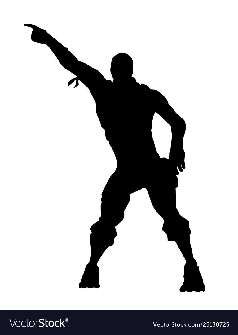 Fortnite Concept Dance Icon Royalty Free Vector Image
