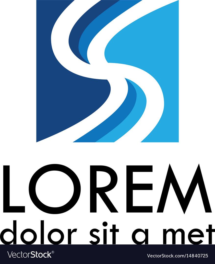 Letter s square logo vector image