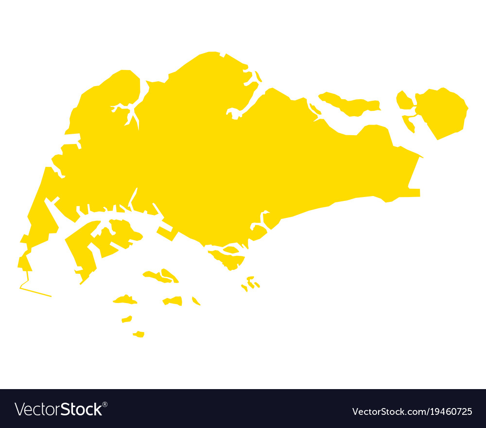 Map Of Singapore Map of singapore Royalty Free Vector Image   VectorStock Map Of Singapore