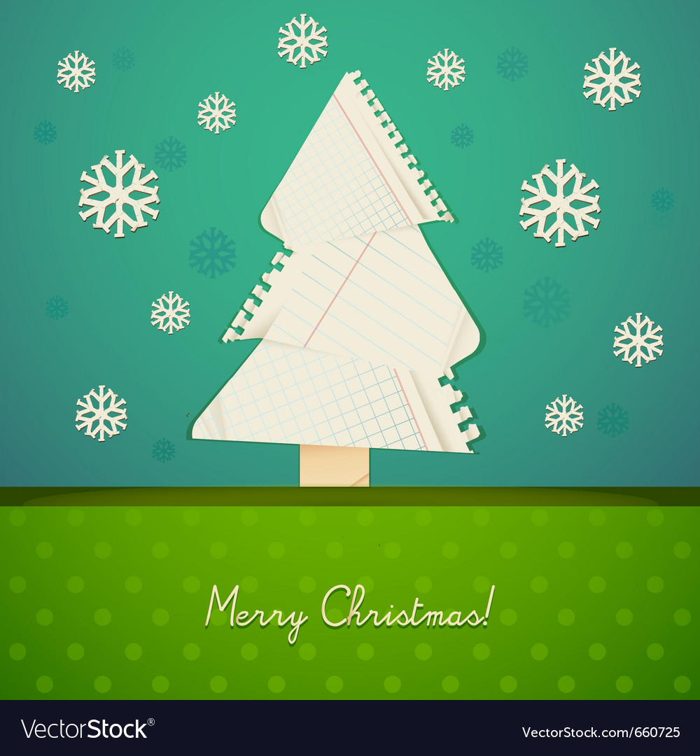 Ripped paper christmas design