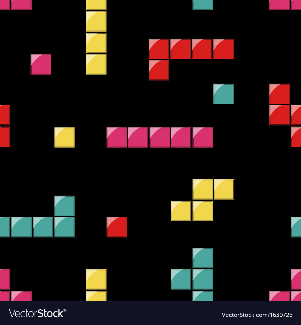 Seamless pattern with tetris elements
