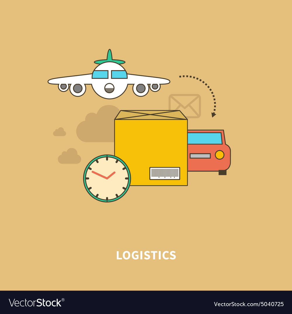 Timely Delivery Important Part of Logistics Chain vector image