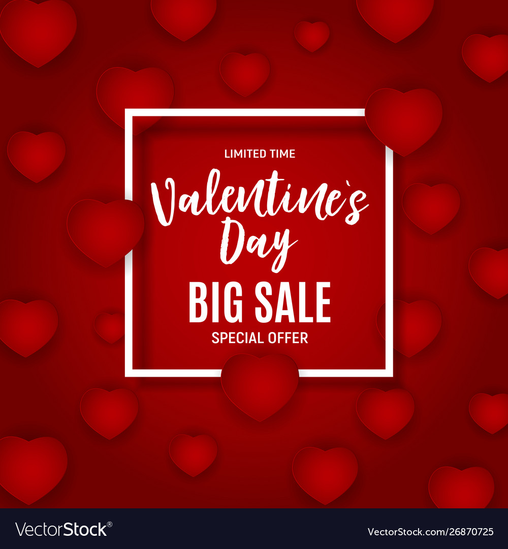Valentines day love and feelings sale background