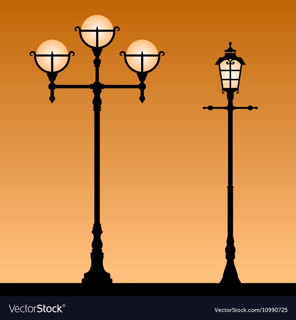 vintage street light royalty free vector image
