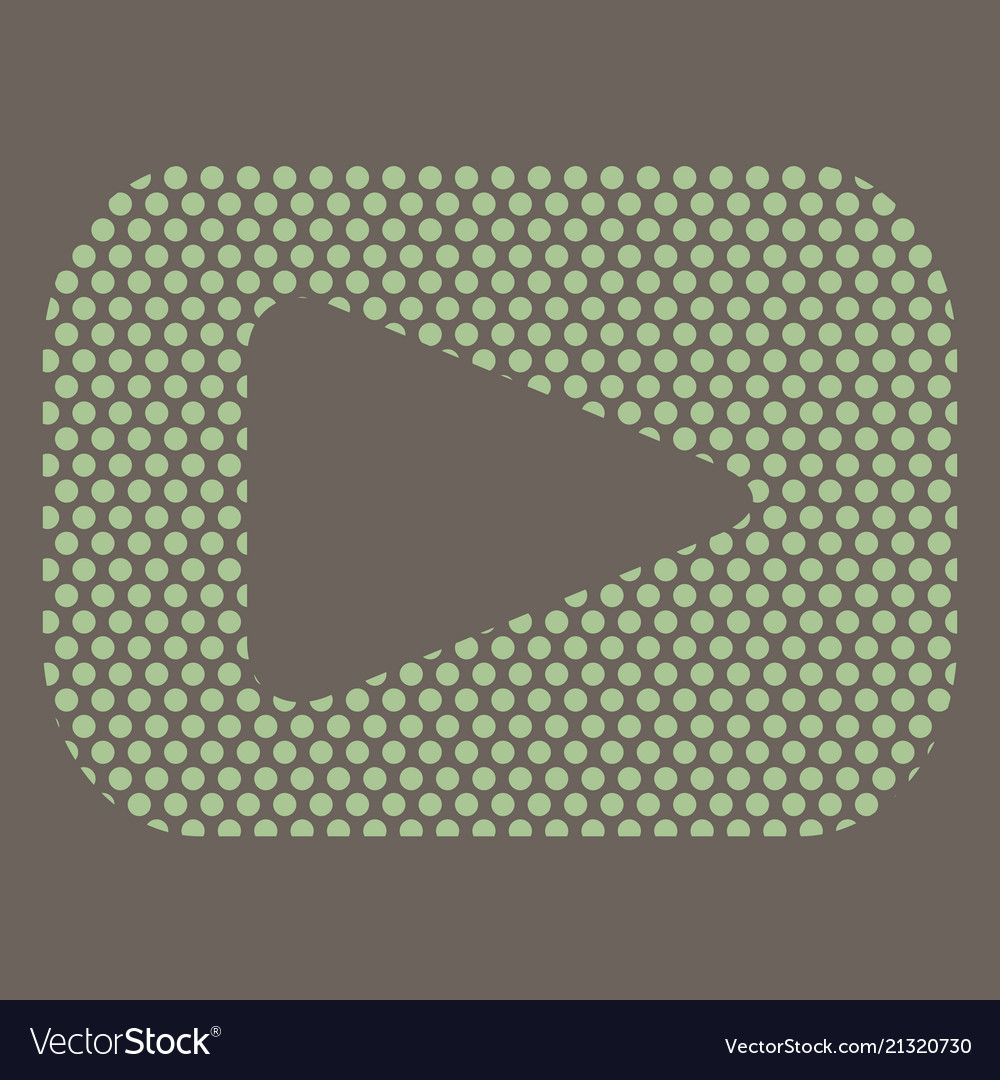 Button video player social media youtube