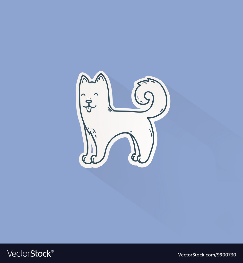 Cute cartoon dog drawing in doodle style Great