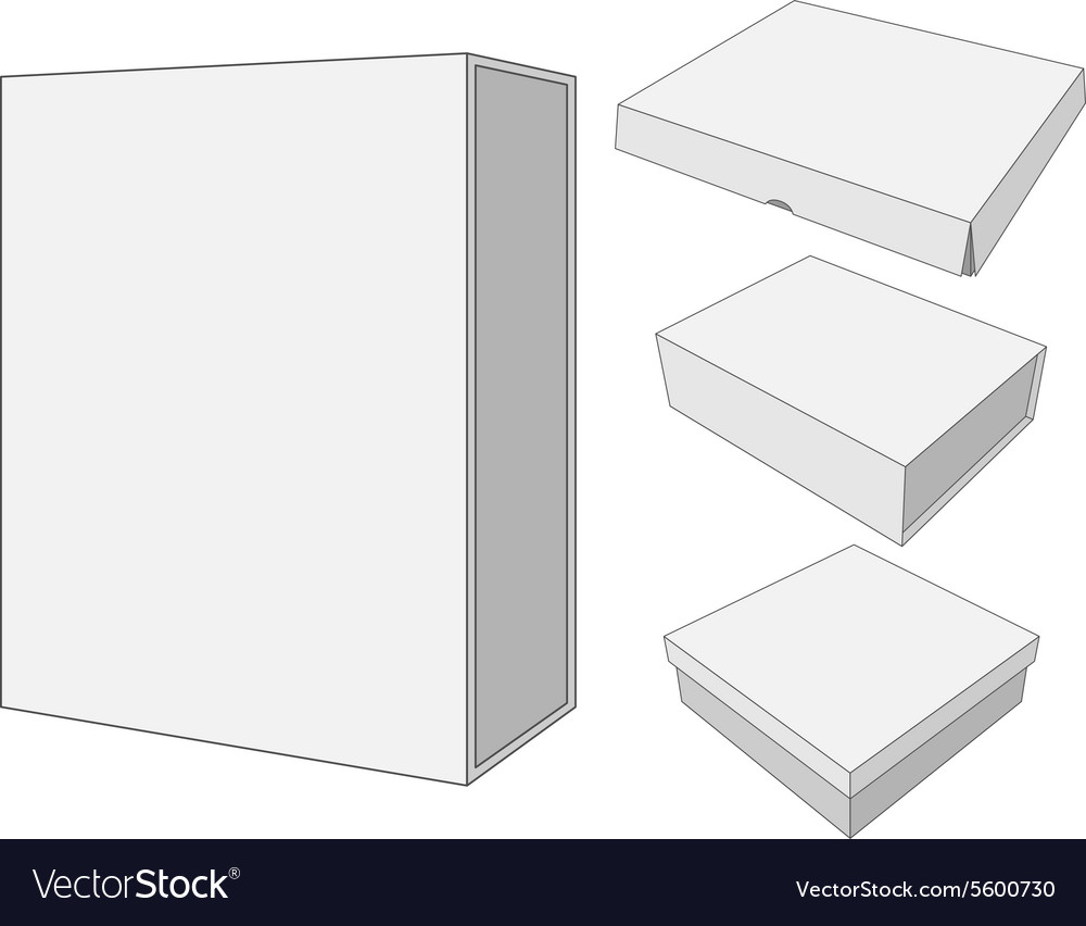 Design of four cardboard Package Box