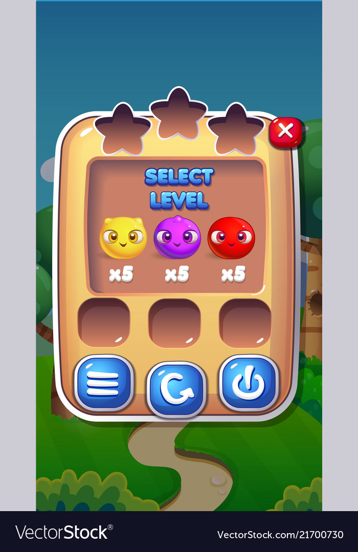 Level select mobile game user interface gui assets
