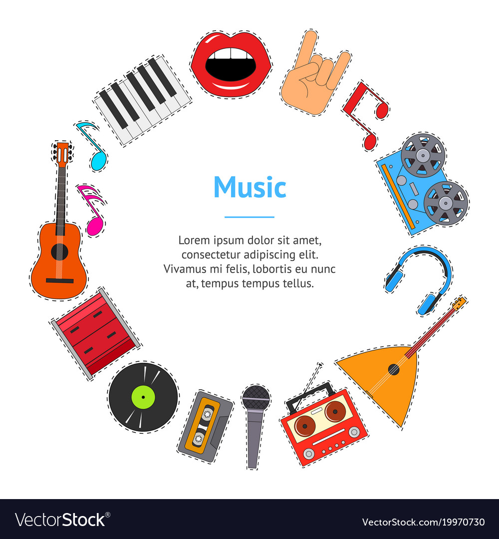 Musical instruments and equipment banner card