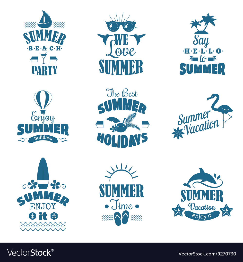 Summer emblem set vector image