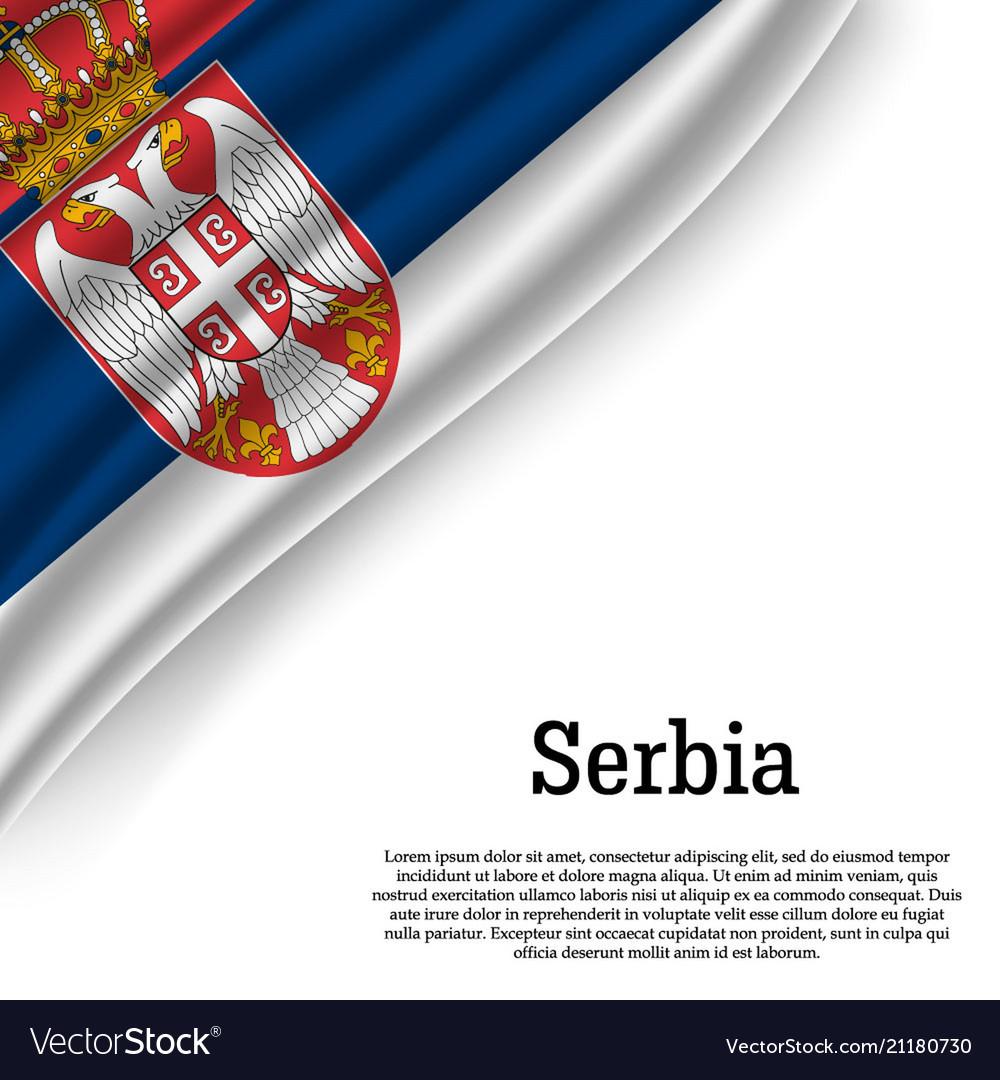 Waving flag of on white background