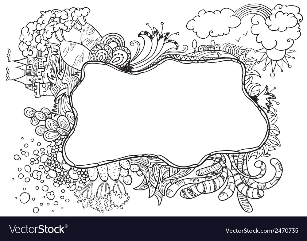Doodle Frame Royalty Free Vector Image Vectorstock