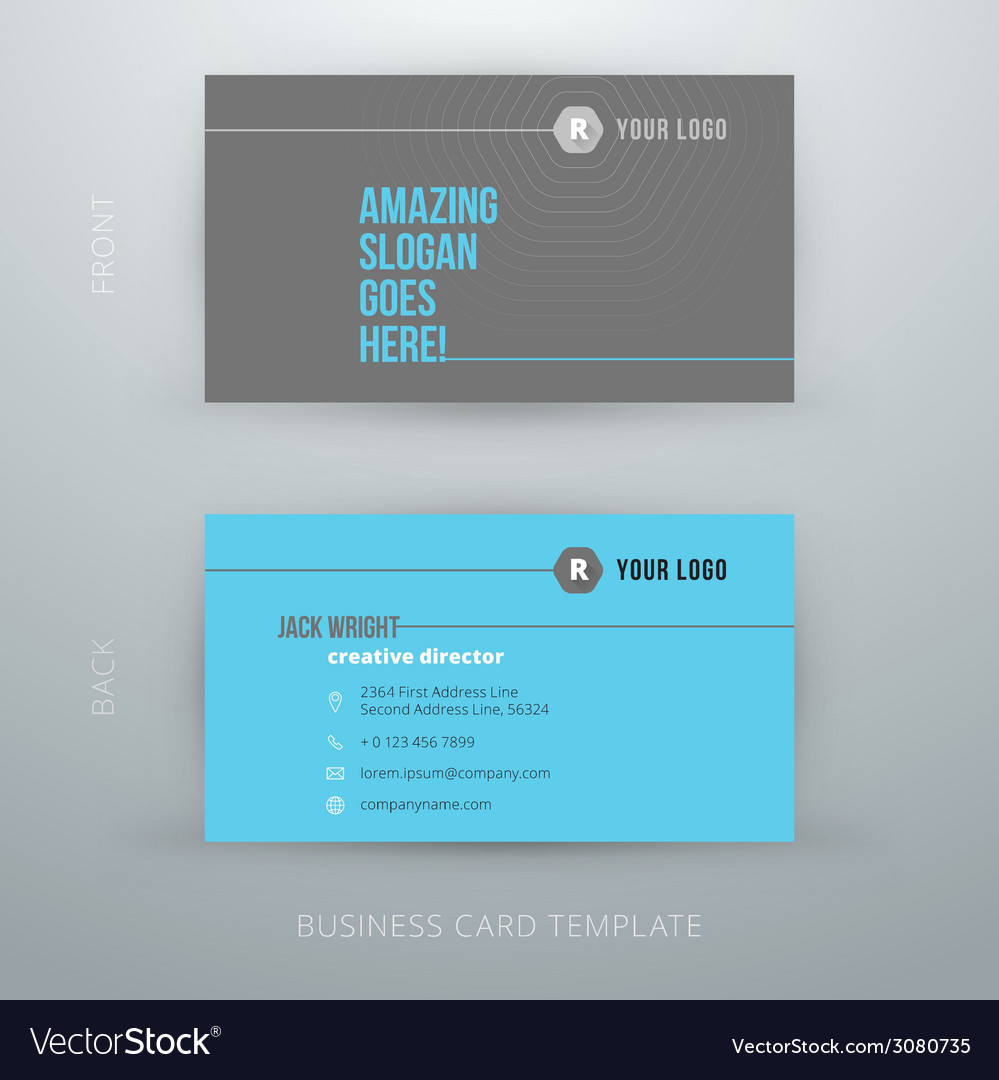 Modern simple business card template royalty free vector modern simple business card template vector image colourmoves