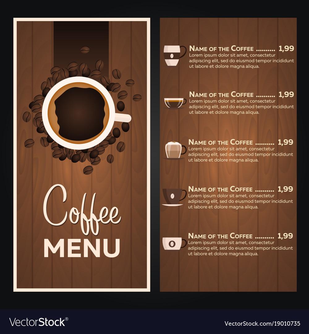 Restaurant Cafe Menu Coffee Menu Royalty Free Vector Image