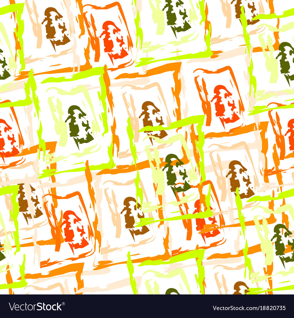 Seamless pattern with abstract shapes